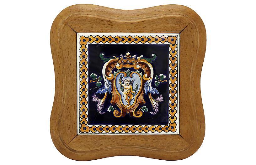 French Gien Renaissance Pattern Trivet