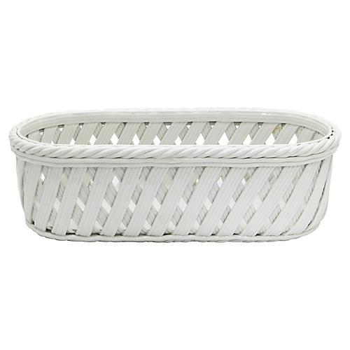 Tiffany Porcelain Oblong Basket