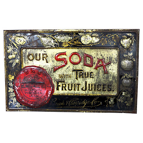 Antique Tin Soda Advertising Sign