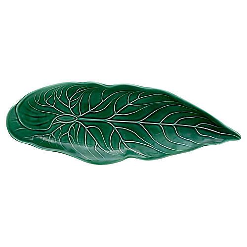 Wedgwood Majolica Leaf Celery Dish