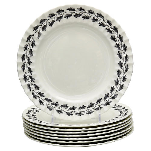 Royal Worcester Royal Oak Plates, S/8