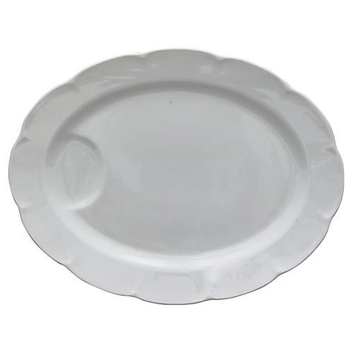 Antique French Porcelain Carving Platter