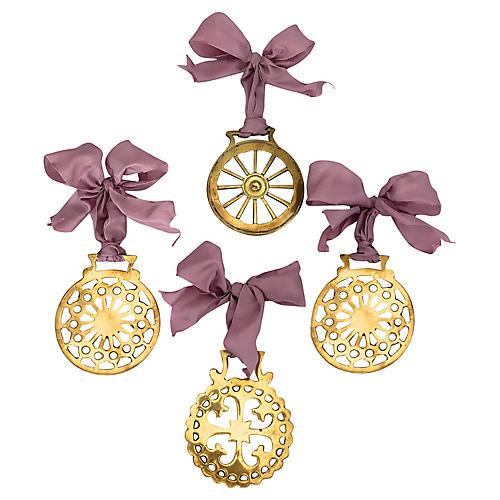Antique Horse Brass Ornaments, S/3