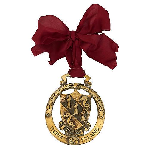 Antique Brass Herm Island Ornament