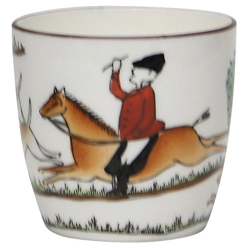 English Hunting Scene Shot Glass