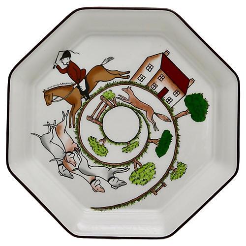 Wedgwood Hunting Scene Octagonal Plate