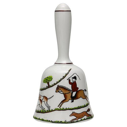 English Hunting Scene Dinner Bell