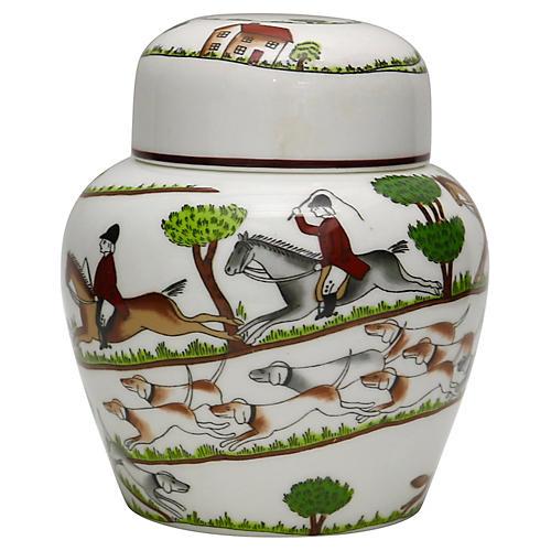 Hunting Scene Ginger / Tea Jar