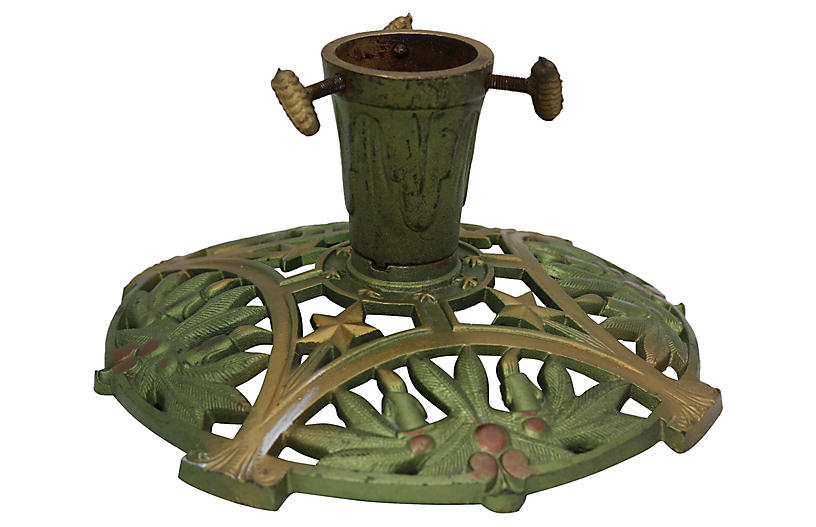 Vintage Christmas Tree Stand.1950s Cast Iron Christmas Tree Stand Vintage Holiday