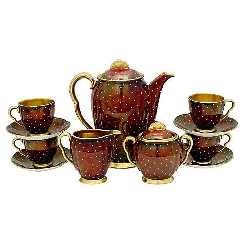 Art Deco Rouge Royale Espresso Set