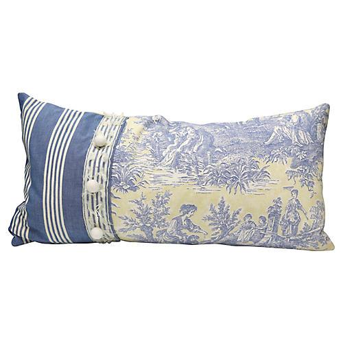 English Toile Lumbar Pillow