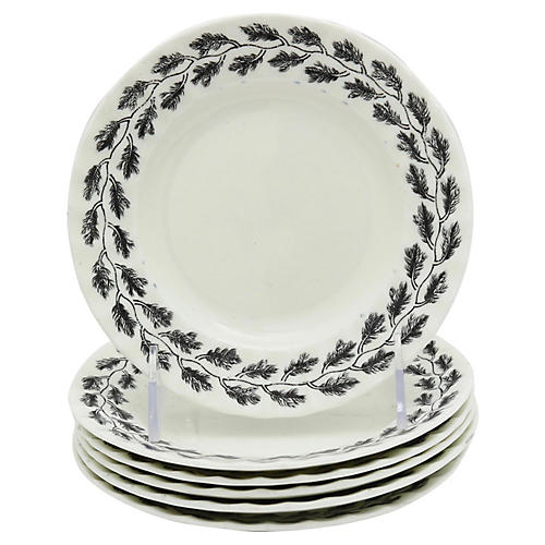 Worcester Royal Oak Side Plates, S/6