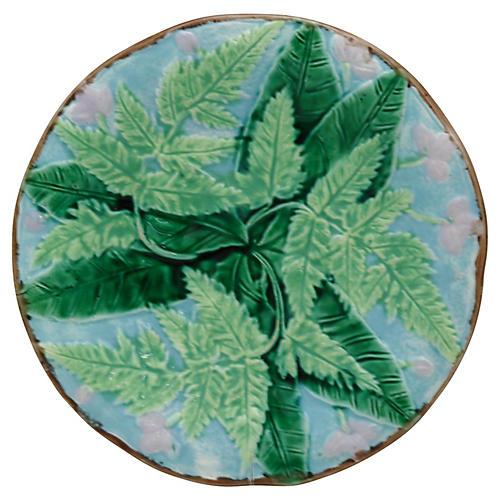 Antique English Majolica Plate