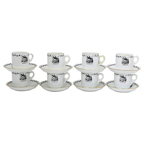 English Hunting Lodge Espresso Cups, S/8