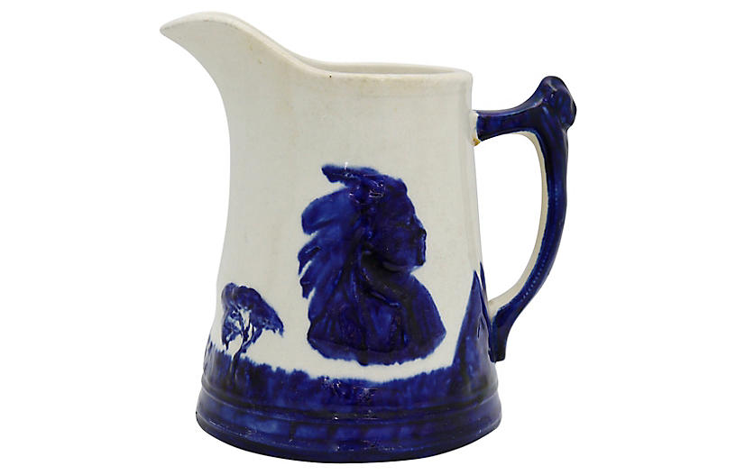 Antique Monmouth Sleepy Eye Pitcher