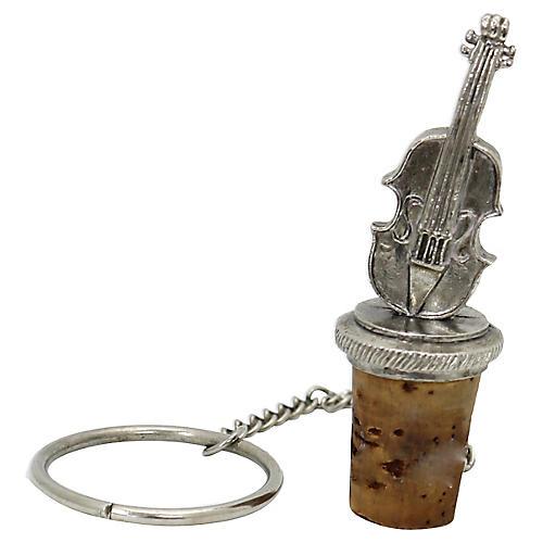 Silver-Plate Cello Wine Stopper