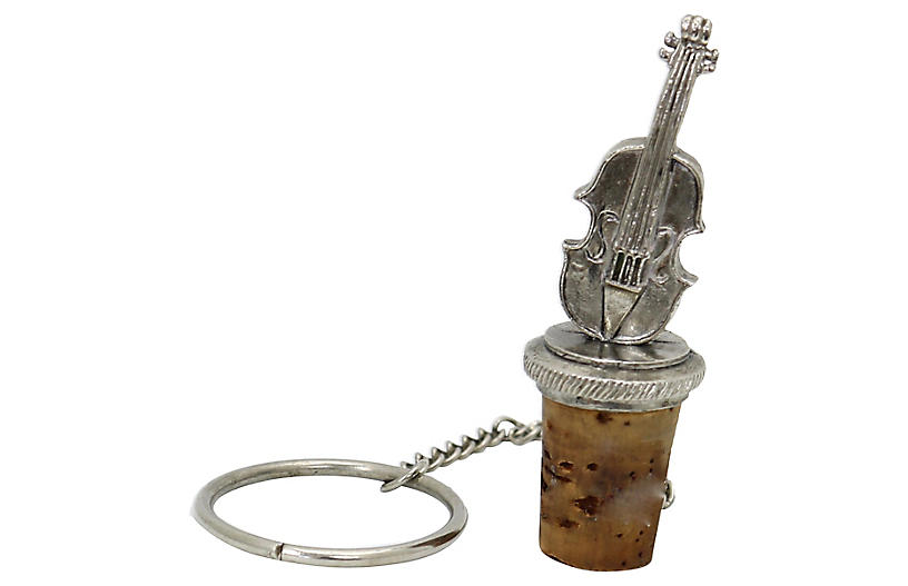 Silver-Plate Cello Wine Stopper