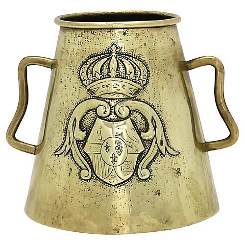 English Brass Arts & Crafts Vase