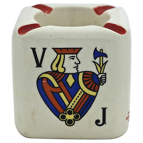 French Cognac Advertising Ashtray