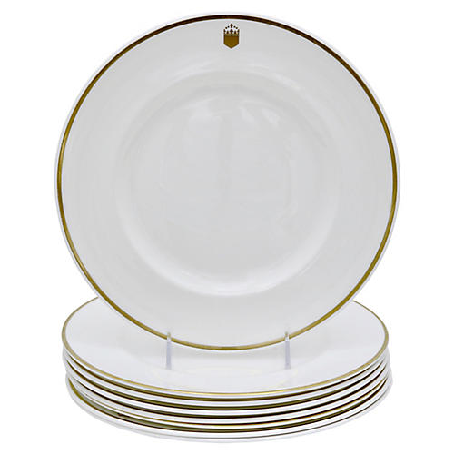 Doulton Hotelware Plates w/ Crest, S/8