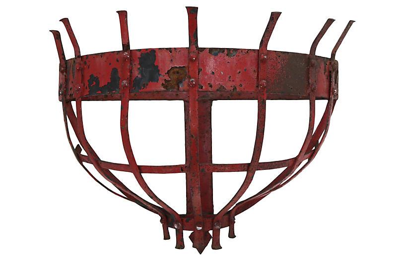English Horse Hay Basket/ Wall Planter