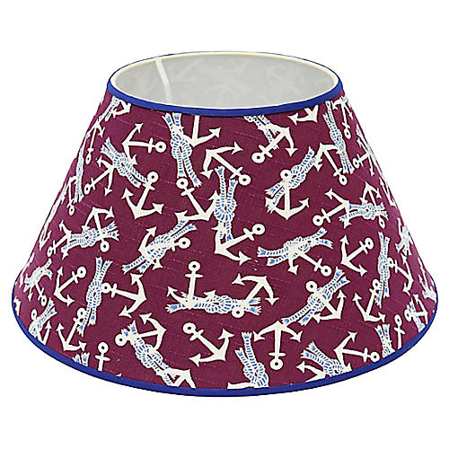 Vintage Nautical Linen Lampshade
