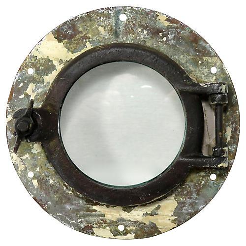 Antique Brass Ships Porthole