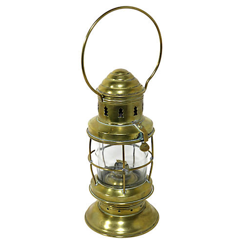 Antique Nautical Solid Brass Oil Lantern