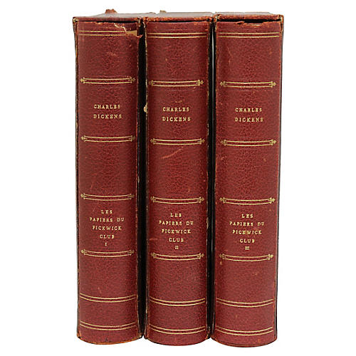 3-Vol French Charles Dickens Collection