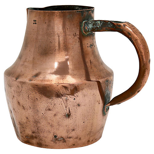 Antique French Copper Water Jug