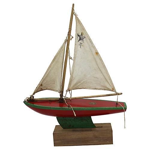 English Pond Boat w/Stand