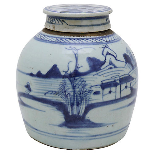 Antique Chinese Export Ginger Jar
