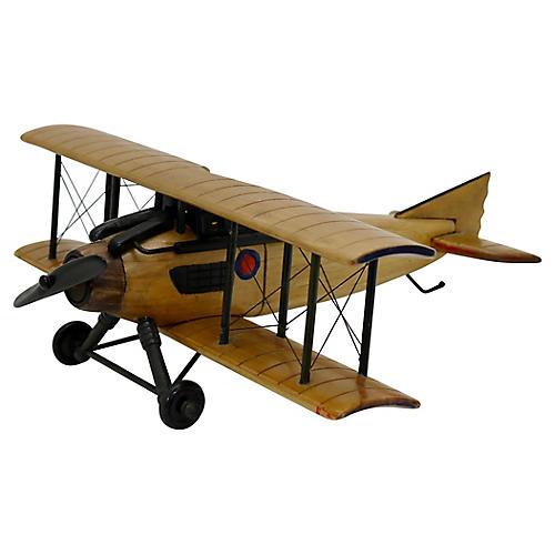 Mid-Century Wood Airplane Model