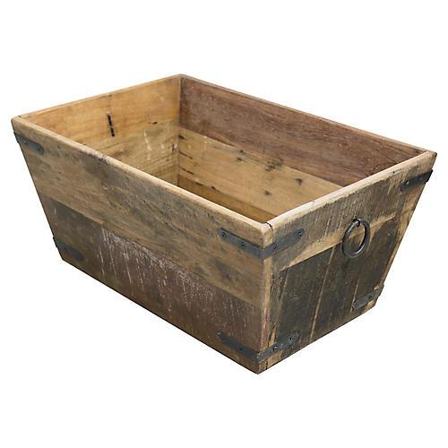 French Salavaged Wood Storage Box