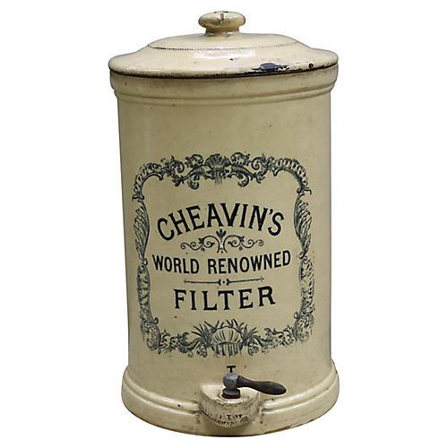 Antique English Stoneware Water Filter
