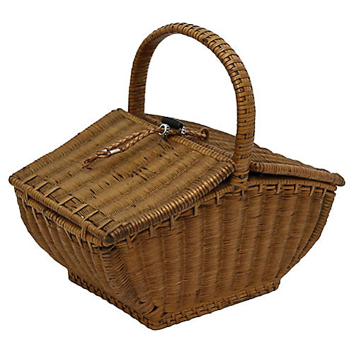 Antique Hand-Made French Basket