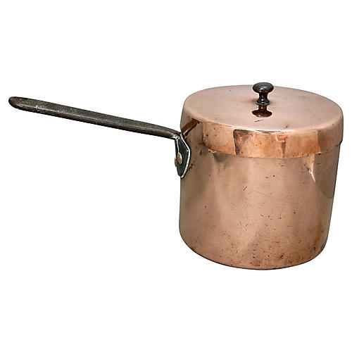 Antique English Copper Stock Pot