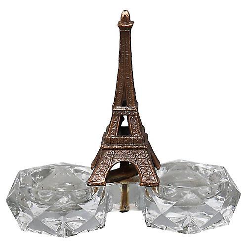 1950s French Eiffel Tower Open Salt