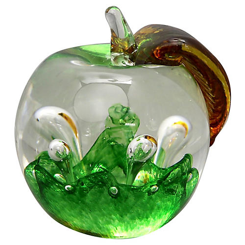 Scottish Art Glass Apple Paperweight