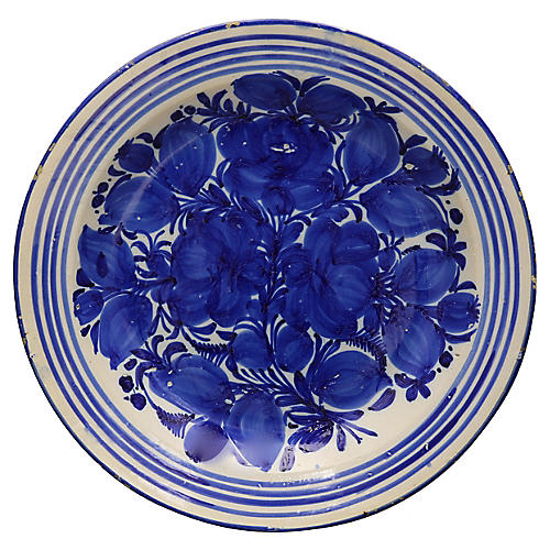 Antique Hand-Painted Delft Charger
