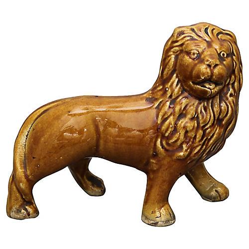 Antique Staffordshire Lion