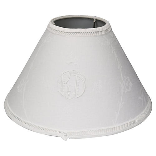Antique French Linen Lampshade