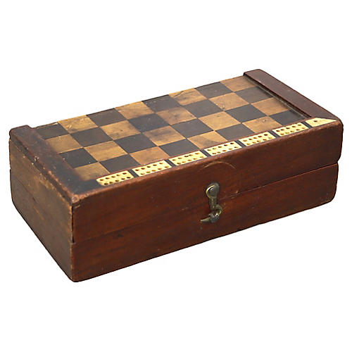 Antique Traveling Game Board / Box