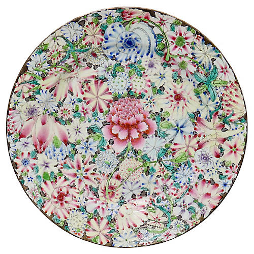 Antique Chinese Export Floral Plate