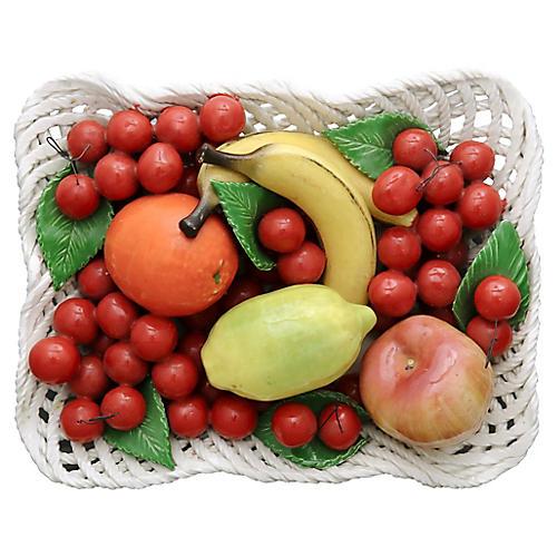 Mid-Century Trompe L'Oeil Fruit Basket