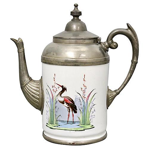 Antique Graniteware Enamel Coffeepot