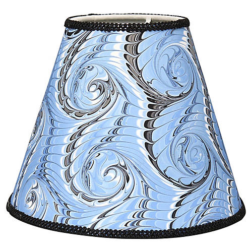 Hand-Marbled Sconce / Boudoir Lampshade