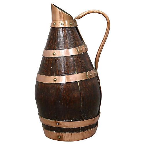 Antique Arts & Crafts Copper Wine Carafe