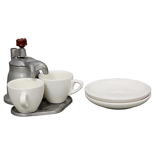Midcentury Italian Espresso Set, 5 Pcs