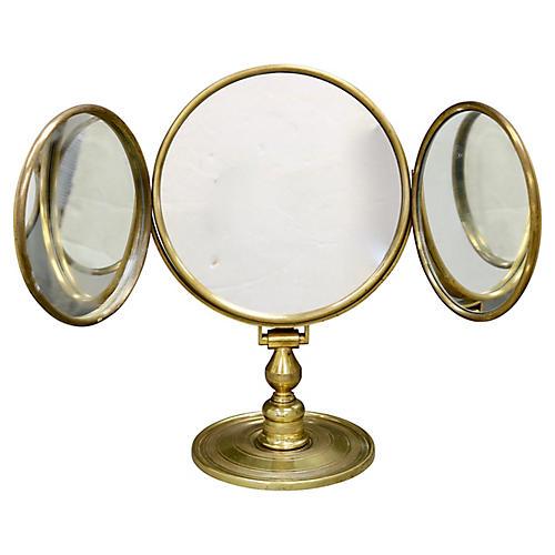 Midcentury Gentleman's Shaving Mirror